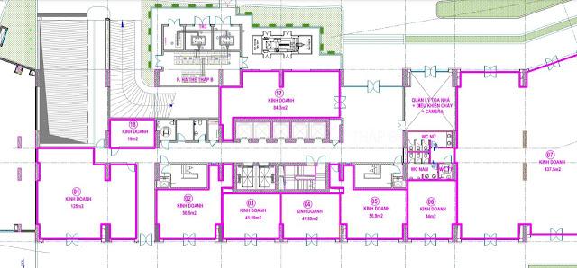 Bán mặt bằng kinh doanh khối đế Kiot TTTM chung cư Intracom Riverside, giá tốt nhất thị trường