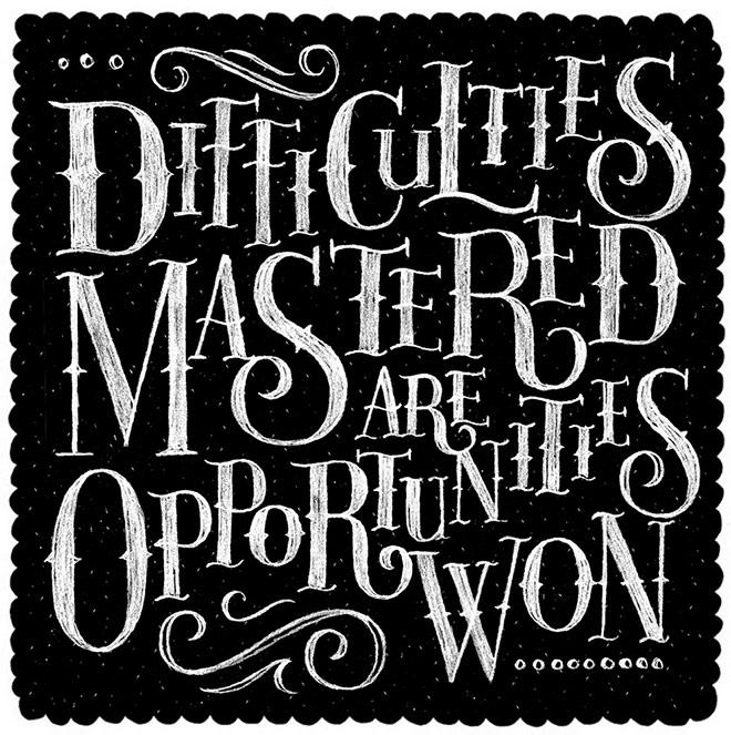 Inspirasi desain tipografi terbaik dan terbaru - Opportunities by Alexandra Snowdon