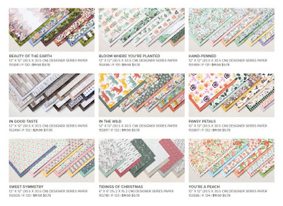 Designer Series papers that are part of the Stampin' Up! Designer Series Paper Sale 1 July - 2 August 2021