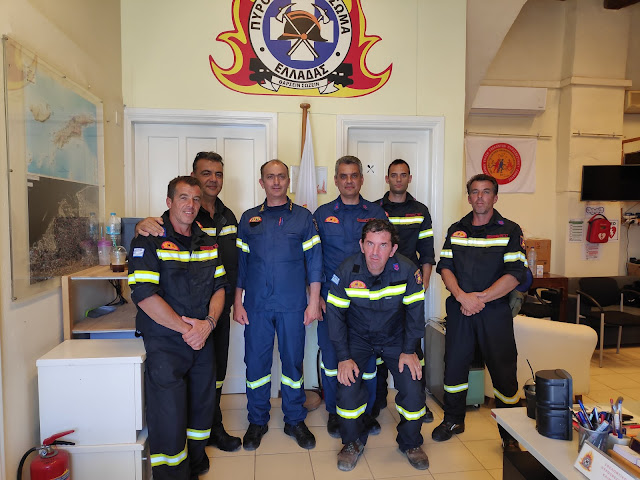 Επίσκεψη του Διοικητή Πυροσβεστικής Αργολίδας στο Εθελοντικό Κλιμάκιο Ύδρας