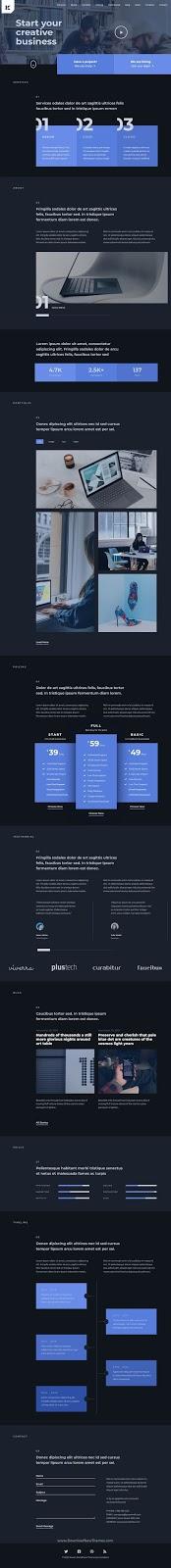 Best Business One Page WordPress Theme