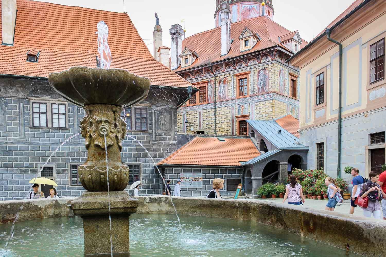 Cesky Krumlov Castle 2nd Courtyard Fountain