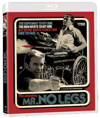 Cover art for Massacre Video's Standard Blu-ray release of MR. NO LEGS!