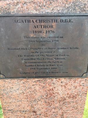 Agatha Christie bust plaque