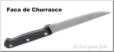 Foto de uma Faca para Churrasco que em inglês é conhecida por Steak Knife