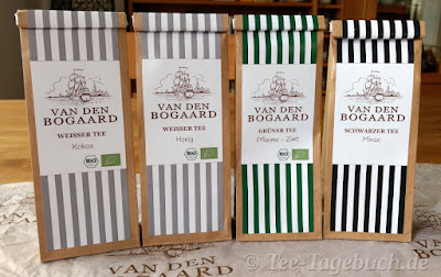 """Teeproben aus der Teekollektion """"van den Bogaard"""""""