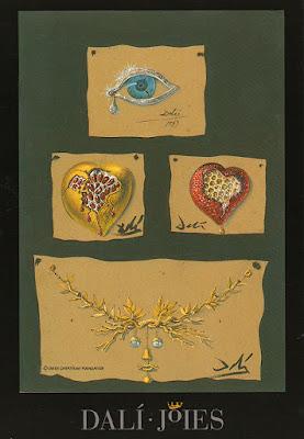 Postal, Dalí, joyas, museo, Figueras