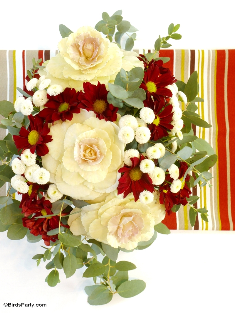 Easy DIY Floral Centerpiece - Perfect for a Fall or Thanksgiving table!