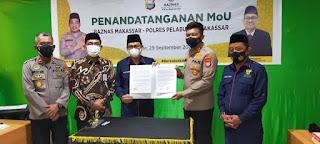 Permudah Penyaluran Zakat, Polres Pelabuhan Makassar menandatangani MoU dengan Baznas