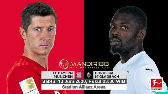 Prediksi Bayern Munchen Vs Borussia Monchengladbach, Sabtu 13 Juni 2020 Pukul 23.30 WIB @ Mola TV