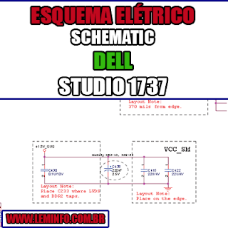 Esquema Elétrico Manual de Serviço Notebook Laptop Placa Mãe DELL STUDIO 1737 Schematic Service Manual Diagram Laptop Motherboard DELL STUDIO 1737 Esquematico Manual de Servicio Diagrama Electrico Portátil Placa Madre DELL STUDIO 1737