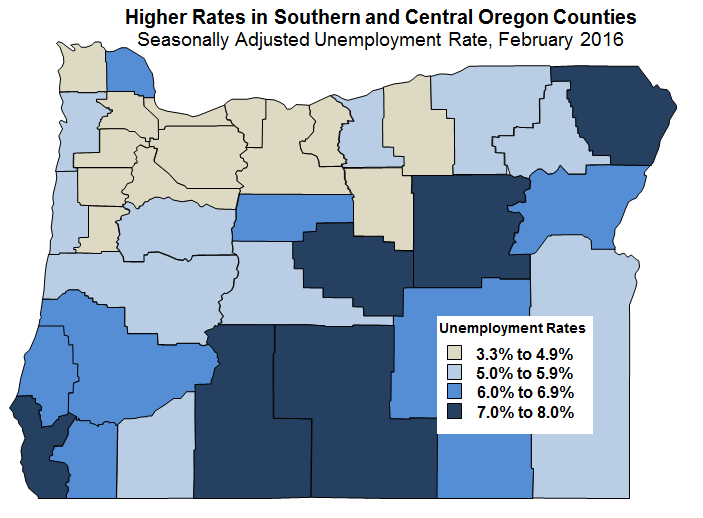 Oregon Workforce and Economic Information February 2016