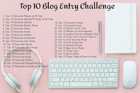Top 10 Blog Entry Challenge