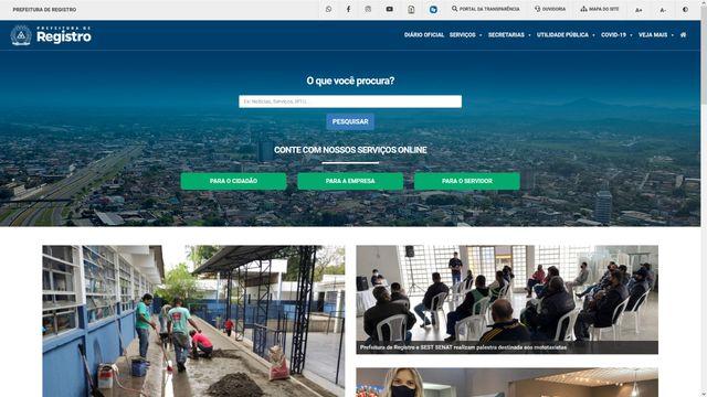 Prefeitura de Registro-SP lança novo site institucional