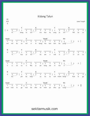not angka kidang talun lagu daerah jawa tengah
