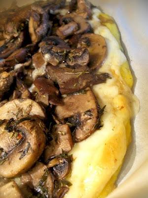 Mushroom Polenta Pizza