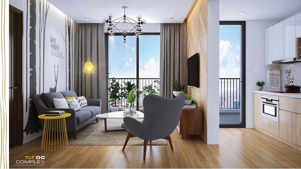 Nội thất căn hộ chung cư T&T Dc Complex