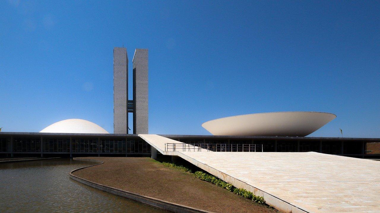 cúpula convexa no topo do Congresso nacional