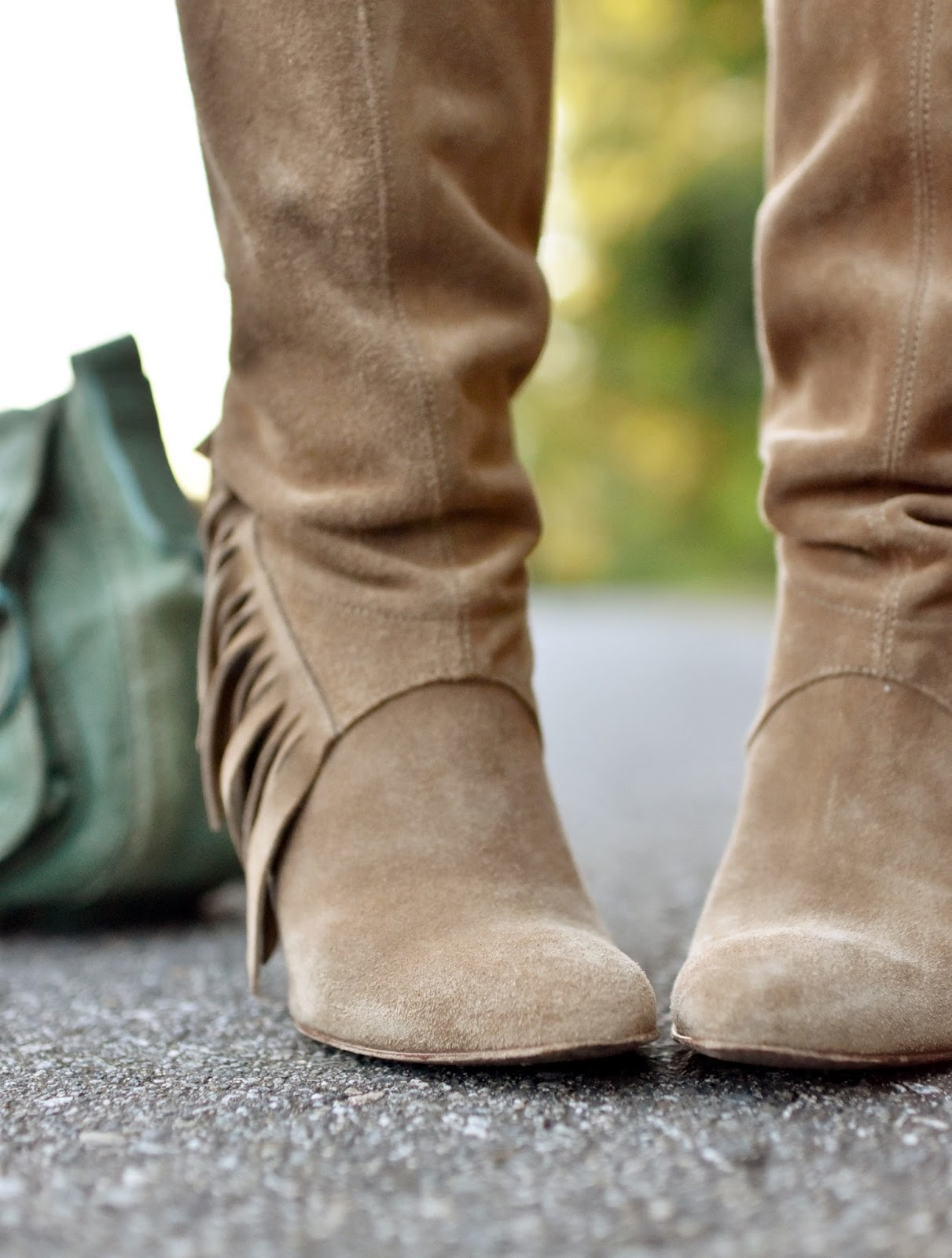 fringy suede boots