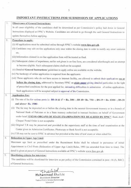 FPSC Jobs PK 2021 Advertisement
