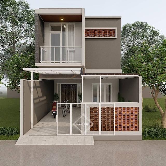 Desain Rumah 2 Lantai Mungil Minimalis