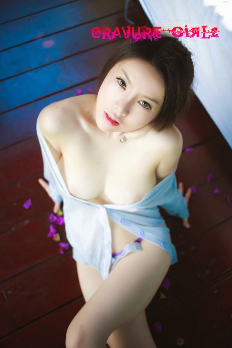 Asian with giant big tits in purple lingerie - 3 part 6