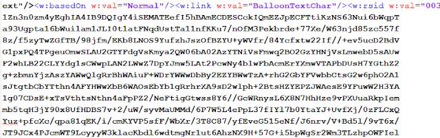 Macro en documento XML imagen