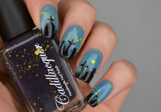 Cadillacquer Halloween 2021 Crepuscle Thermal Nail Polish Swatch