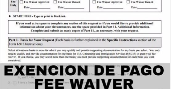 Club De Venezolanos Exencion De Pago Fee Waiver I 912