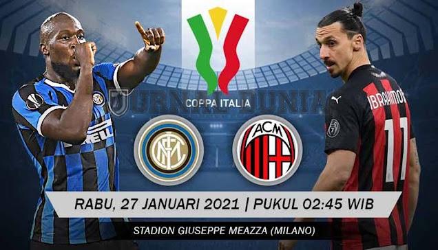 Prediksi Inter Milan vs AC Milan , Rabu 27 Januari 2021 Pukul 02.45 WIB