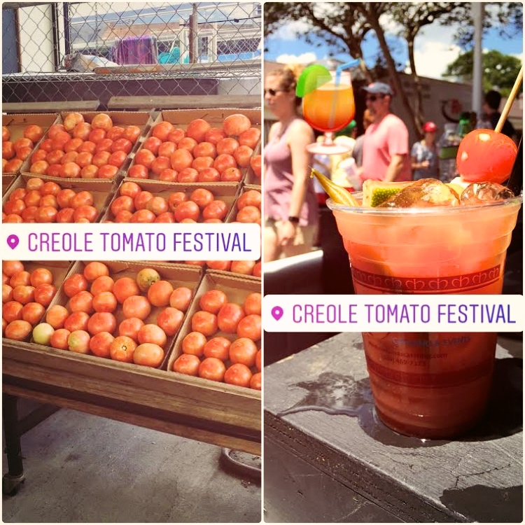 Creole tomatoes and Bloody Mary