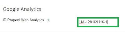 cara memasang trackink ID google analytics pada blog