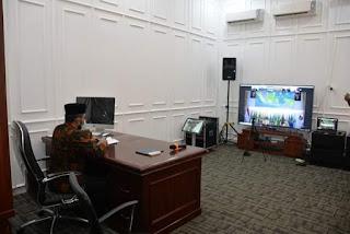 Sekda Ikuti Rakor  Penyelenggaraan Perizinan Perusahaan Sistem OSS Bersama Tiga Menteri