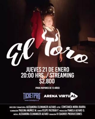 """Obra de teatro """"El Toro"""" tendrá una función en línea"""
