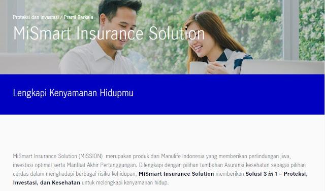 MiSSION MiSmart Insurance Solution Manulife Indonesia