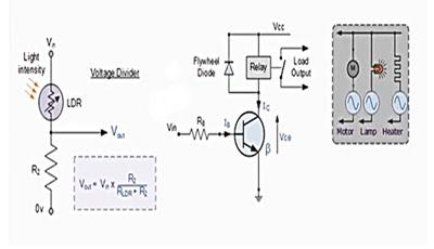 دورة الالكترونيات:تصميم دائرة ترانزستور للتحكم بالاجهزة
