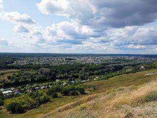 Изюм. Харьковская обл. Вид с горы Кременец