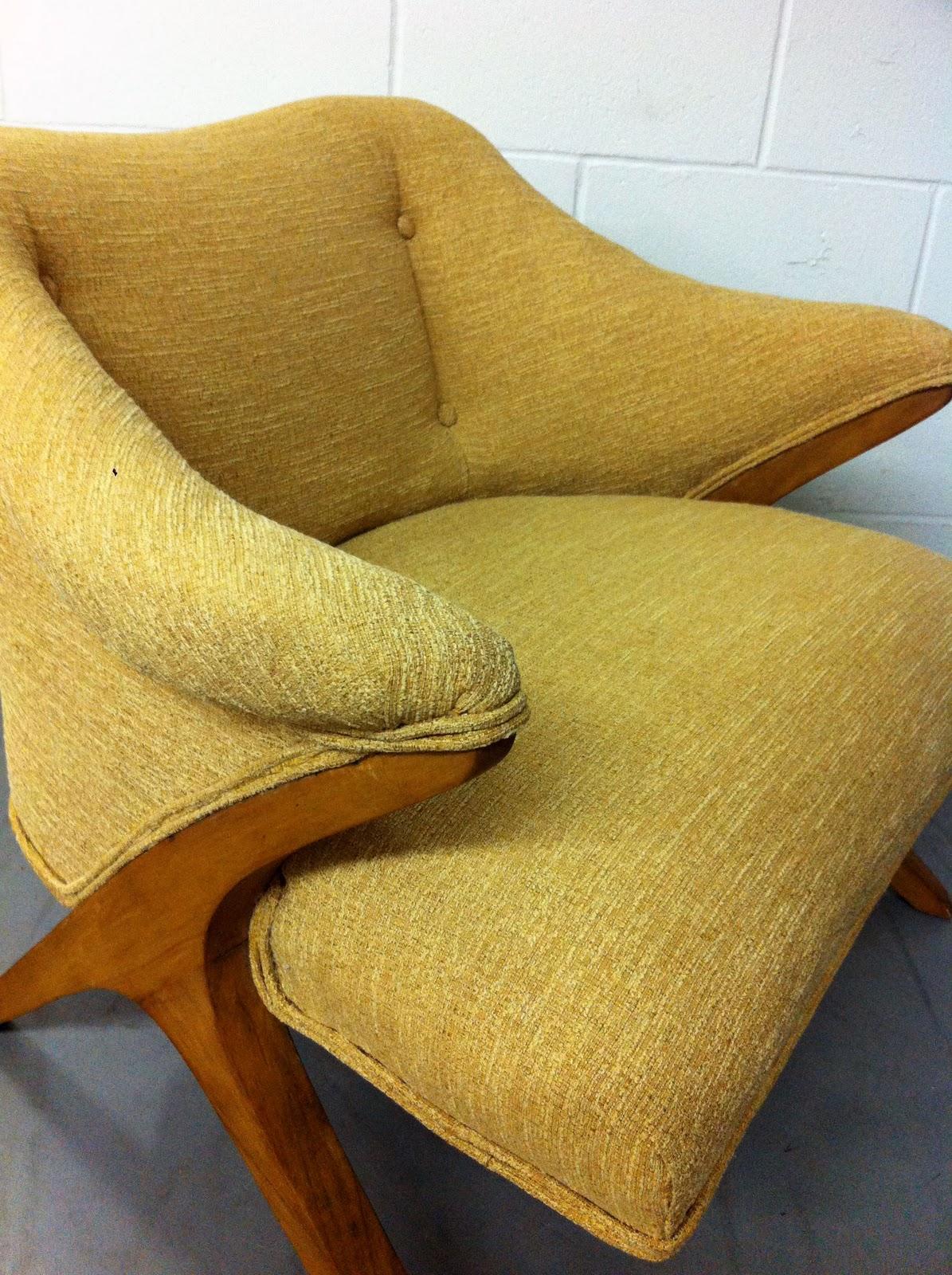 Junk2funk Mid Century Modern Yellow Arm Chair