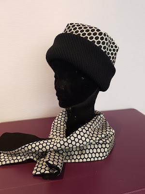 Patouche Chapeaux bonnet revers laine tissu nid d'abeille
