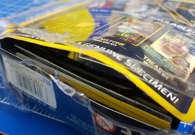 National Geographic Mini Dig Kits packaging plastic and sharp