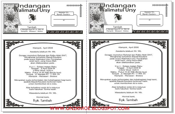 Template Undangan Pernikahan CDR | DOWNLOAD DESAIN UNDANGAN PERNIKAHAN ...