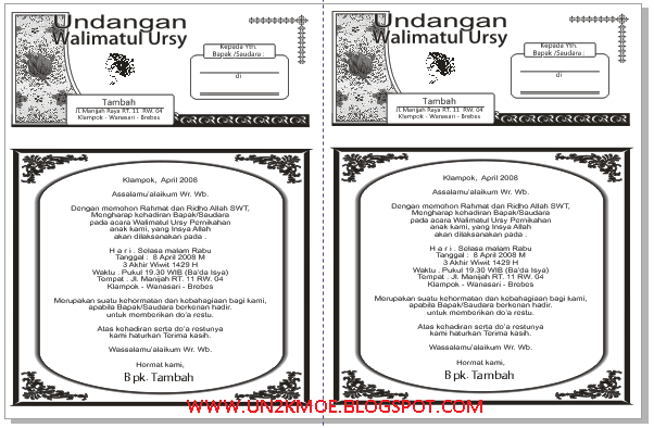 Download Undangan Aqiqah Microsoft Word Multibar