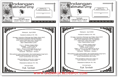 Contoh Template Undangan Pernikahan HVS Folio Bagi 2 CDR | DOWNLOAD DESAIN UNDANGAN PERNIKAHAN FORMAT CORELDRAW GRATIS