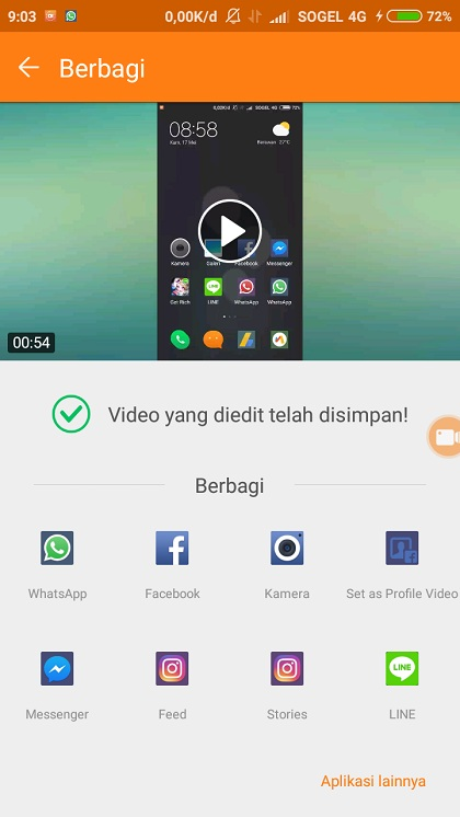 DU Screen Recorder Simpan Video