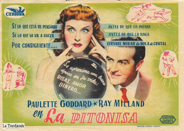 La Pitonisa - Programa de Cine - Paulette Goddard - Ray Milland