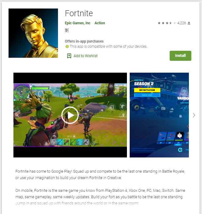 Fortnite Is FINALLY on Google Play Store download now
