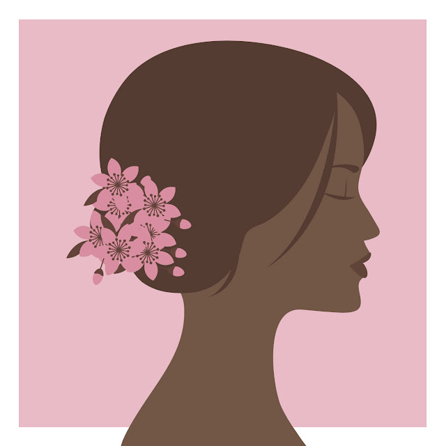 Chica ilustraciones y dibujos chica perfil