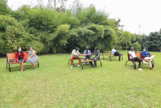 DP William Ruto with his collegues at his Karen home