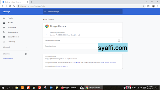 Cara Update Google Chrome Desktop atau PC