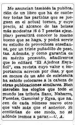 Recorte en El Sol, artículo del Marqués de Casa Alta